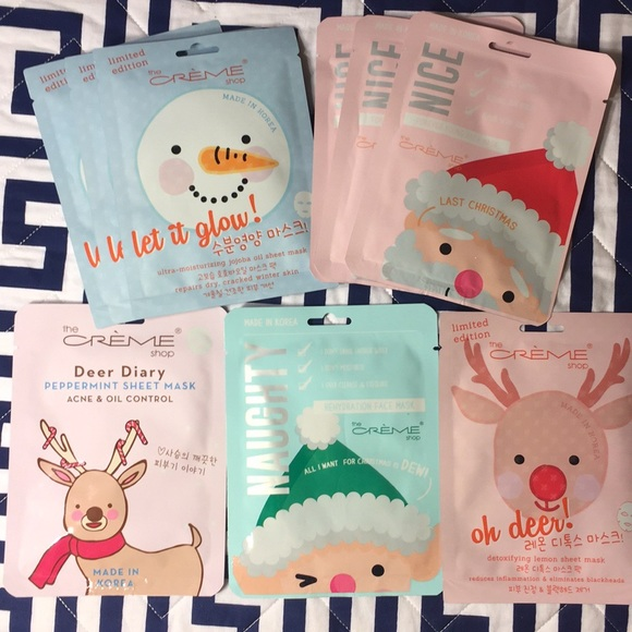 The Creme Shop 9 pack Sheet Masks Limited Editions NWT